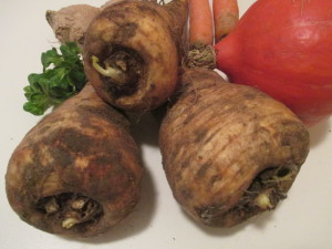 Gesundes Gemüse -Pastinaken